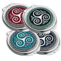 Celtic Triskele and Trinity Knot Compact Mirror